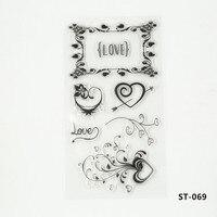 Transparent DIY Scrapbooking Process Tools Silicone Clear Stamp Love Helper Card Photo Album Scrapbooking Decorative