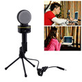 Condenser Wired Microphone Capacitive 3.5MM audio plug Mic Sound Studio for Recording Sing Network conference chating Mic Sound