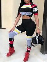 Women Fashion Slinky Pant Casual Suit Set Color Block Star Pattern Finesse Pants Set