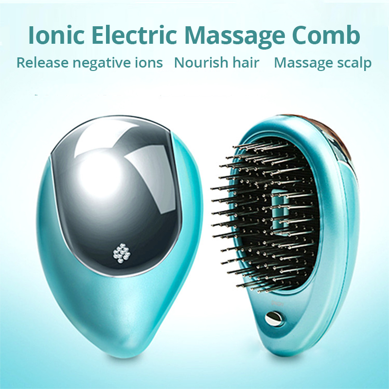Ionic Electric Massage Comb Hair Brush Sonic Scalp Massager Negative Ions Nourish Hair Neutralizing Static Electricity