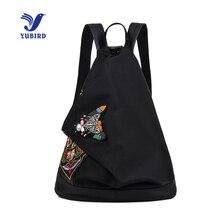 Yubird китайский бренд Стиль Вышивка Для женщин рюкзак с принтом бабочки Оксфорд Национальный Рюкзак Школьная Сумка Обувь для девочек путешествия рюкзак