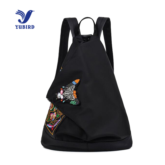 YUBIRD Brand Chinese Style Embroidery Women Backpack Butterfly Print Oxford  National Backpack School Bag Girls Travel 582334f64224b