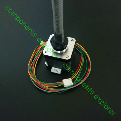 Nema17 Linear Stepper Motors,425mm Length, Tr8*4 Acme Leadscrew Threaded 150mm tr8 8 acme leadscrew threaded nema17 stepper