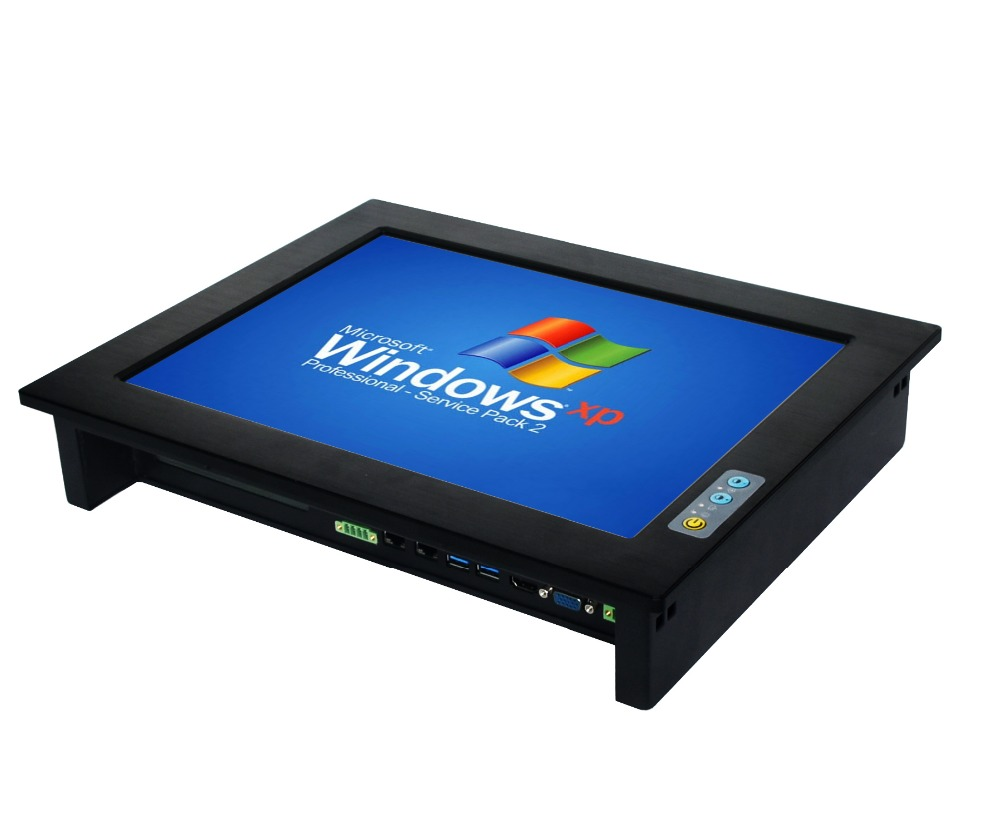 Brightness Adjustable Intel I5 3210M Processor 15 Inch With 2xPCI Industrial Panel Pc With Touch Screen