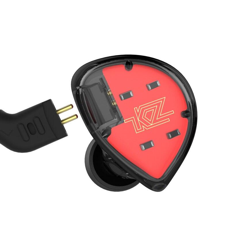 KZ ES4 Coloré BA + DD Dans L'écouteur D'oreille Hybride Casque HIFI Basse Antibruit Écouteurs Avec Mic Remplacé Câble KZ ZS5 ZS6 AS10