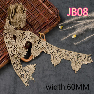 Image 4 - ASHION Золотой водорастворимый Вышитый цветочный кружевной тканевый мусульманский головной платок аксессуары для волос кружевная отделка