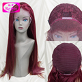 Hot Selling 99j lace front wig virgin unprocessed hair wig full lace wig red  human hair  virgin peruvian hair