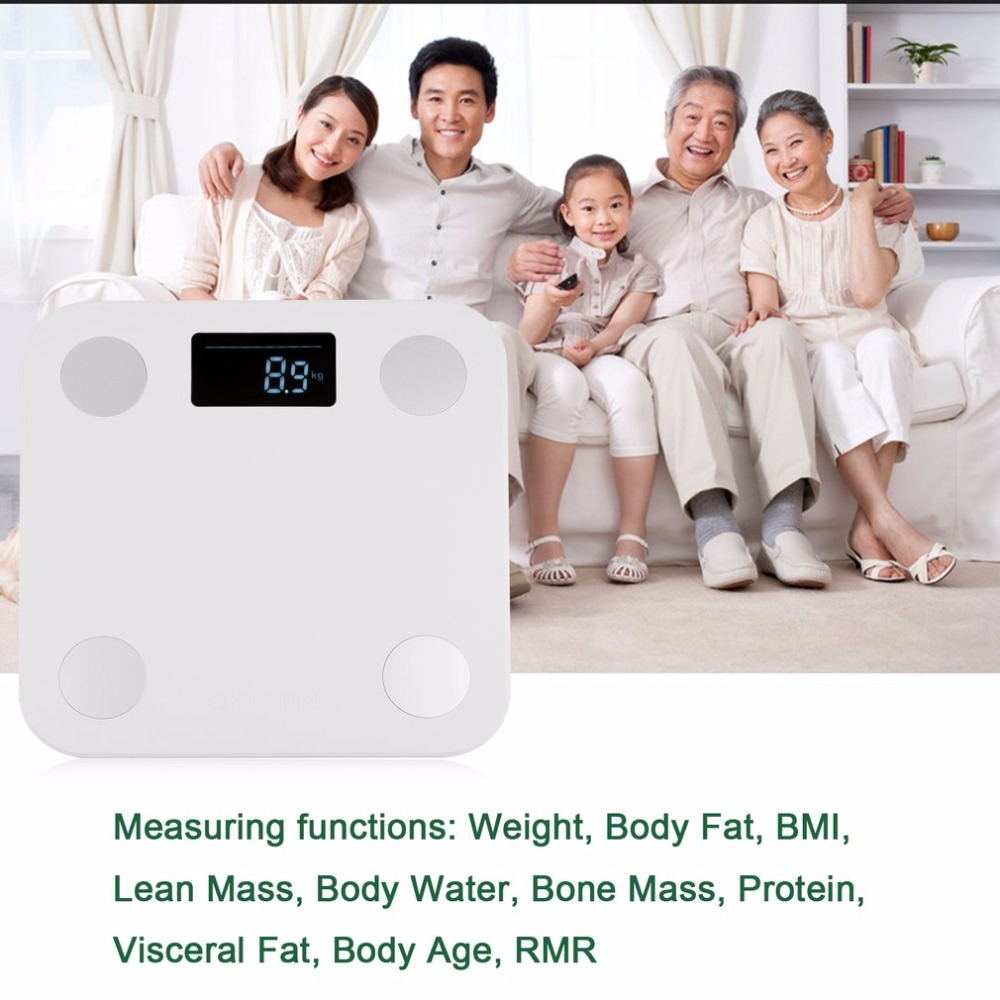Mini Smart Weighting Scale Digital Household Body Scale LCD Display Electronic Weight Balance Health Care white 2 0 lcd digital personal body weight scale 150kg 100g 2 x aaa