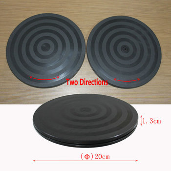 HQ LS2 200MM/8INCH Dia Double Side TV Laptop Display Stand Swivel Plate Plastic Lazy Susan Turntable Mini Base For Shooting