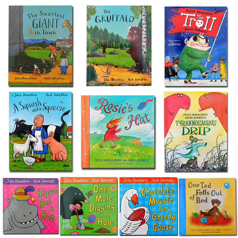 10PCS Random selection English children's book Masters of the Gruffalo Julia Donaldson Works series of picture book