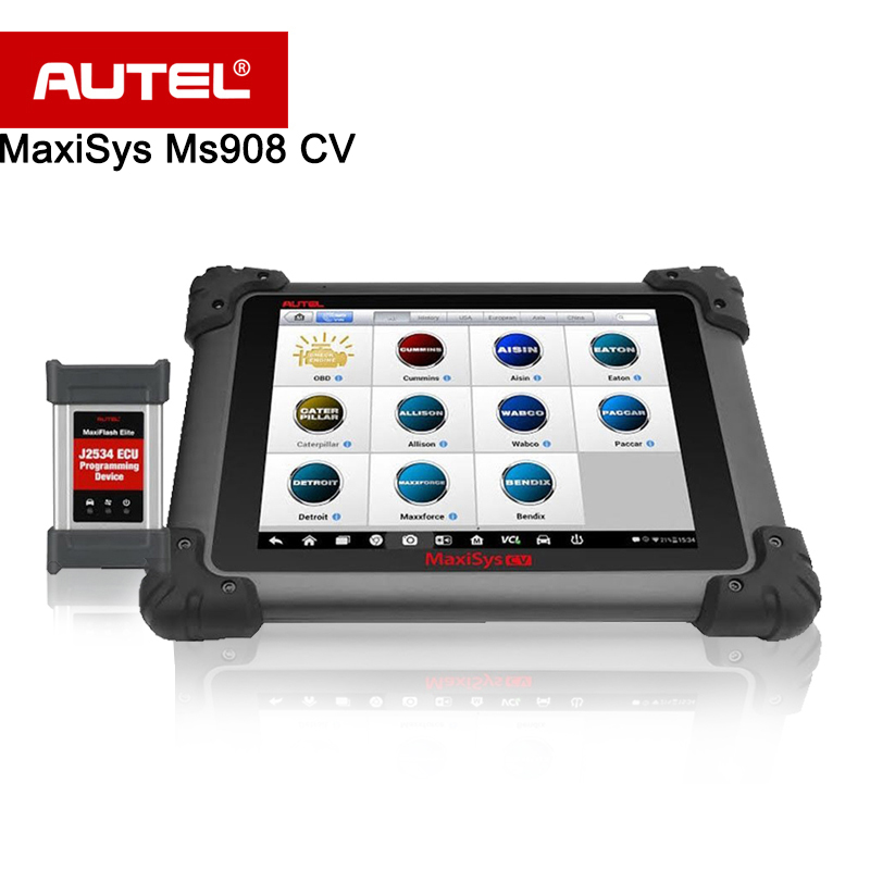 Autel MS908 Maxisys 908 CV Diagnostic Scanner for Heavy Duty Functions of codes