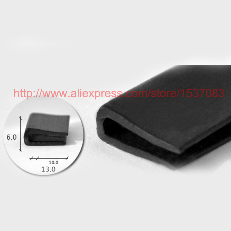 6mm x 13mm rubber strip seal edge trim weatherstrip - TYPE 0056mm x 13mm rubber strip seal edge trim weatherstrip - TYPE 005