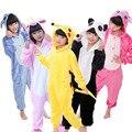 Пижама-кигуруми детская фланелевая с капюшоном и единорогом