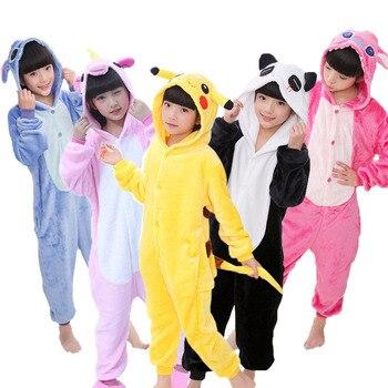 Пижама кигуруми с единорогом для детей, пижама для мальчиков и девочек, Фланелевая пижама с капюшоном для костюмированной вечеринки, От 3 до ...