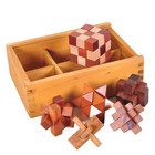 3d wooden puzzles for kids children adults education learning montessori jigsaw puzzle cube box iq brain teasers game kit toys