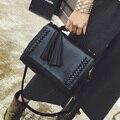 Nuevo estilo de las mujeres de Las Borlas del bolso femenino bolsa de mensajero sobre la vendimia bolsa de hombro de alta calidad maletín de Marca original