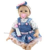 56cm Lifelike Simulation Baby Lifelike Reborn Baby Born Doll Newborn Doll Milk bottle Kids Soft Toy For Girls Children AP02f