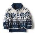 Осень зима свитер дети одежда мальчики-младенцы вязаный свитер пуловер дети свободного покроя трикотаж пальто