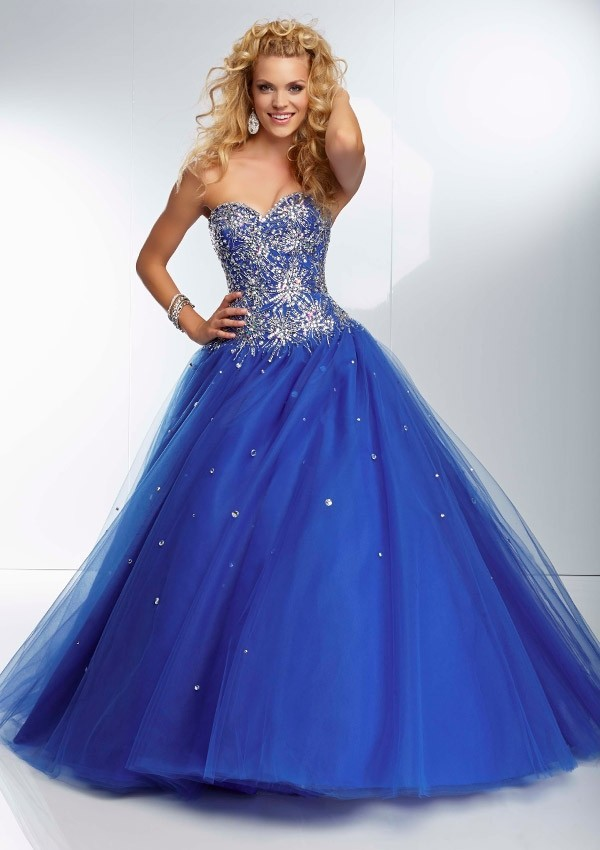 blue ball gown prom dresses | Gommap Blog