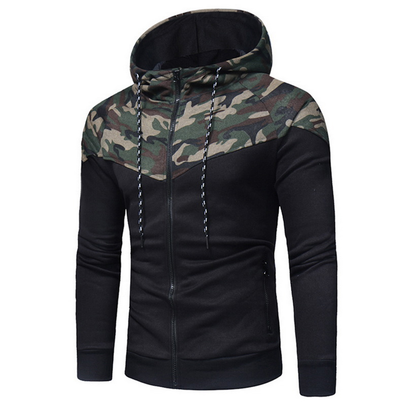 Puimentiua 2019 Men Printing Camo Tracksuit Male Tops+Pants Sets Sports Suit Leisure Drawstring Hoodie With Long Sleeves