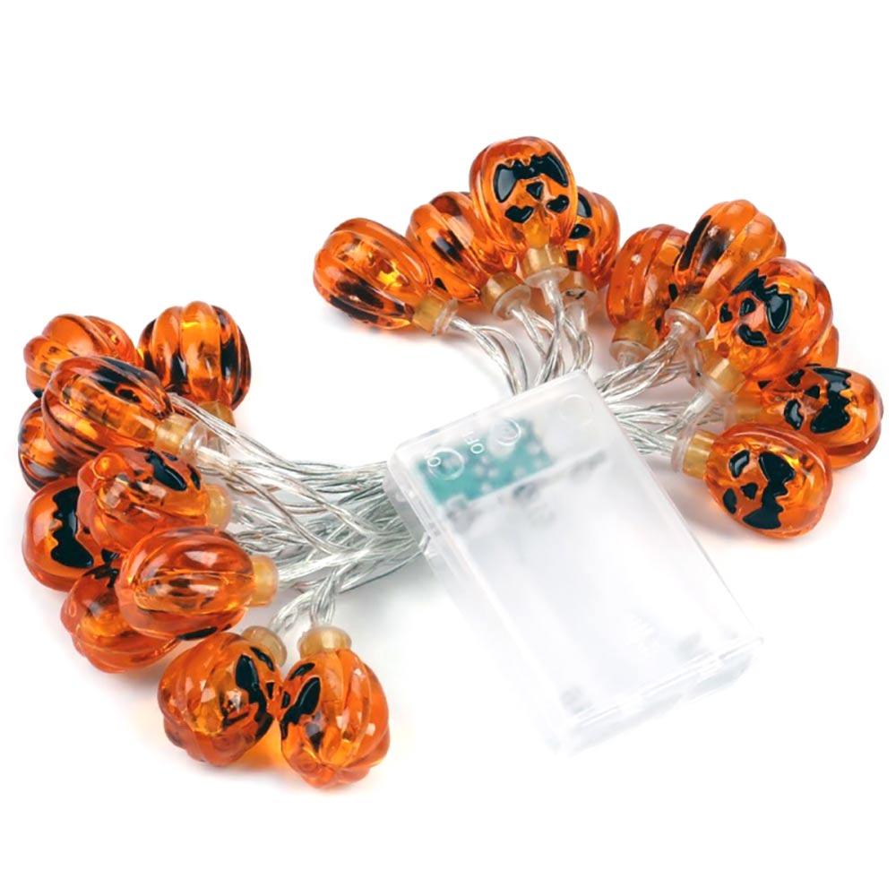 LED Helloween Light Fairy String For Garland Strings Pumpkin/Ghost/Spider/ Bat/Skull LED Light Decor