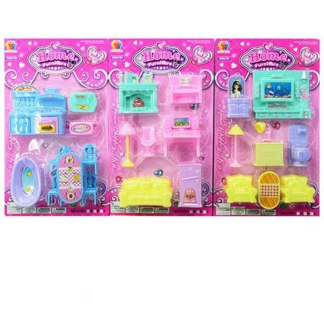 Pretend juego de muebles de juguete de plástico miniatura de los ...