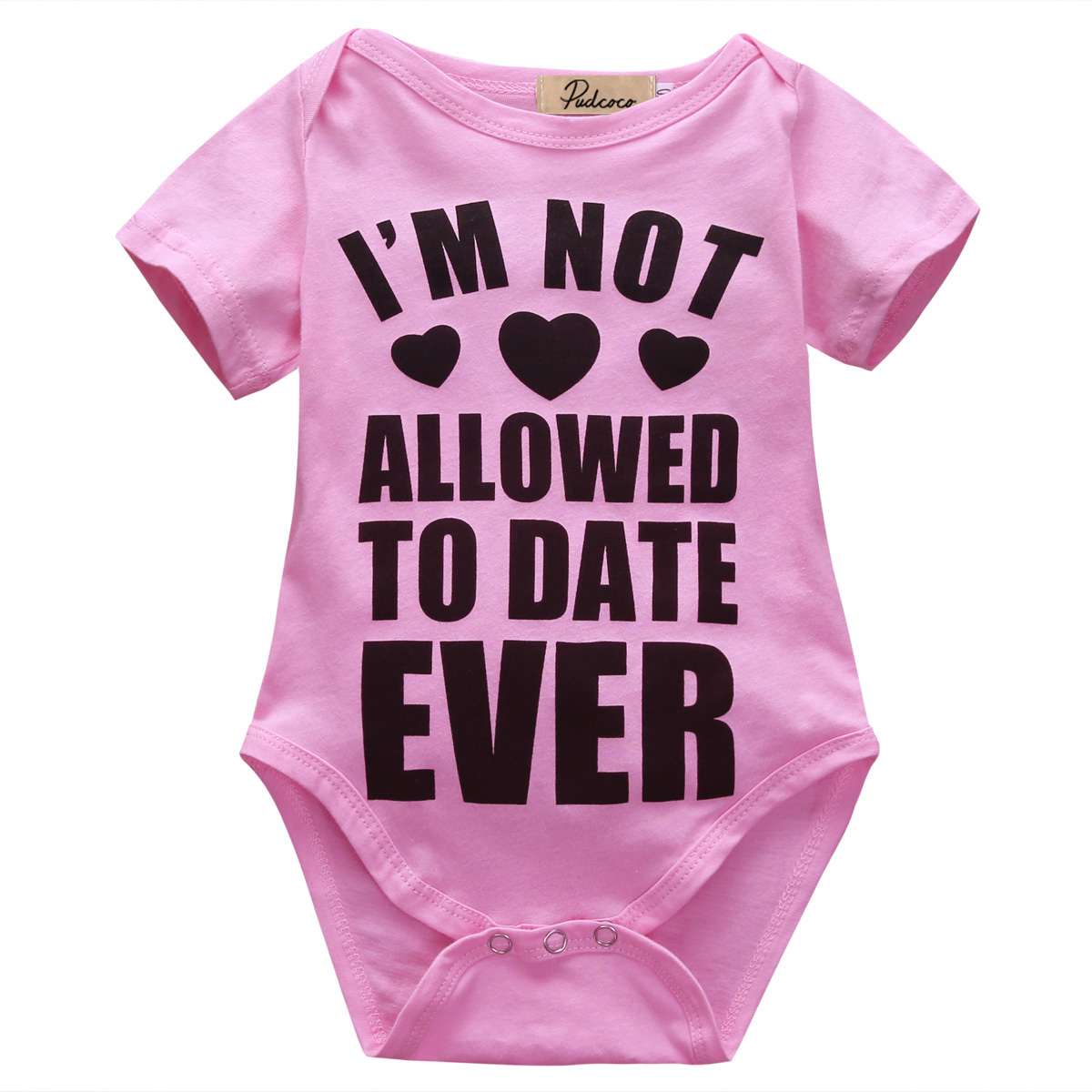 Pink Summer I Am Not Allowed To Date Ever Letter Printed Short