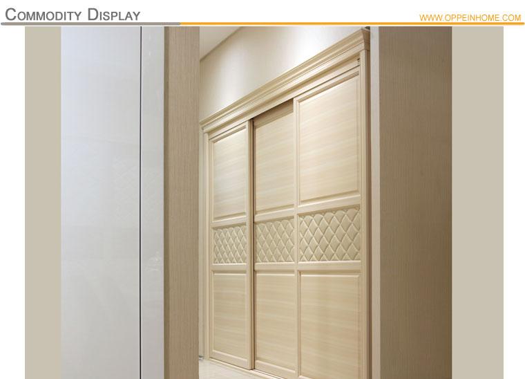 OPPEIN Latest Built In Sliding 3 Doors Bedroom Wardrobe Design