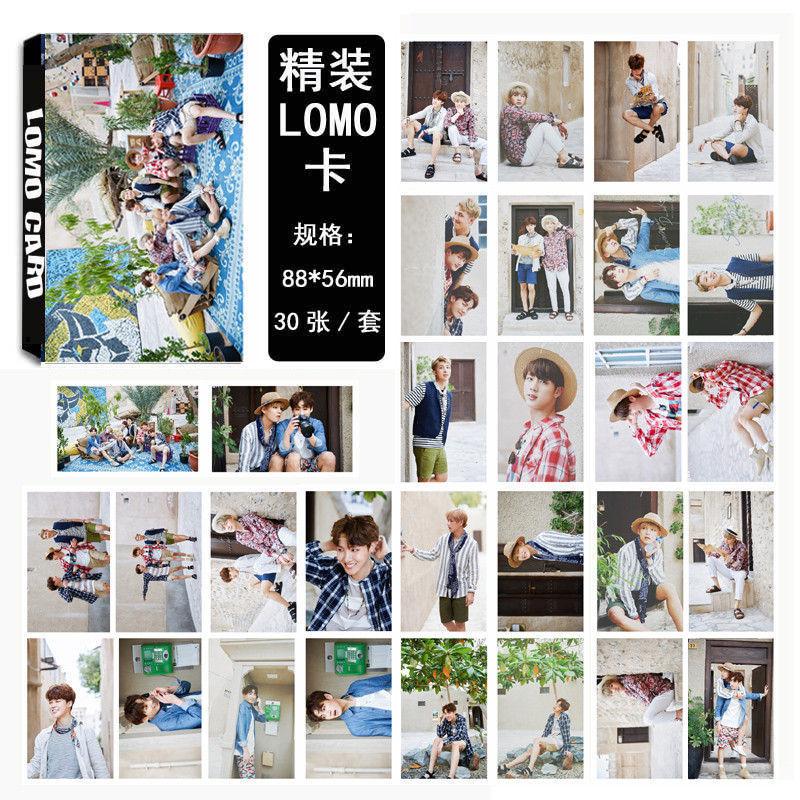 KPOP BTS merchandise WINGS Bangtan Boys Album LOMO Cards K-POP Fashion Self Made Paper Photo Card HD Photocard