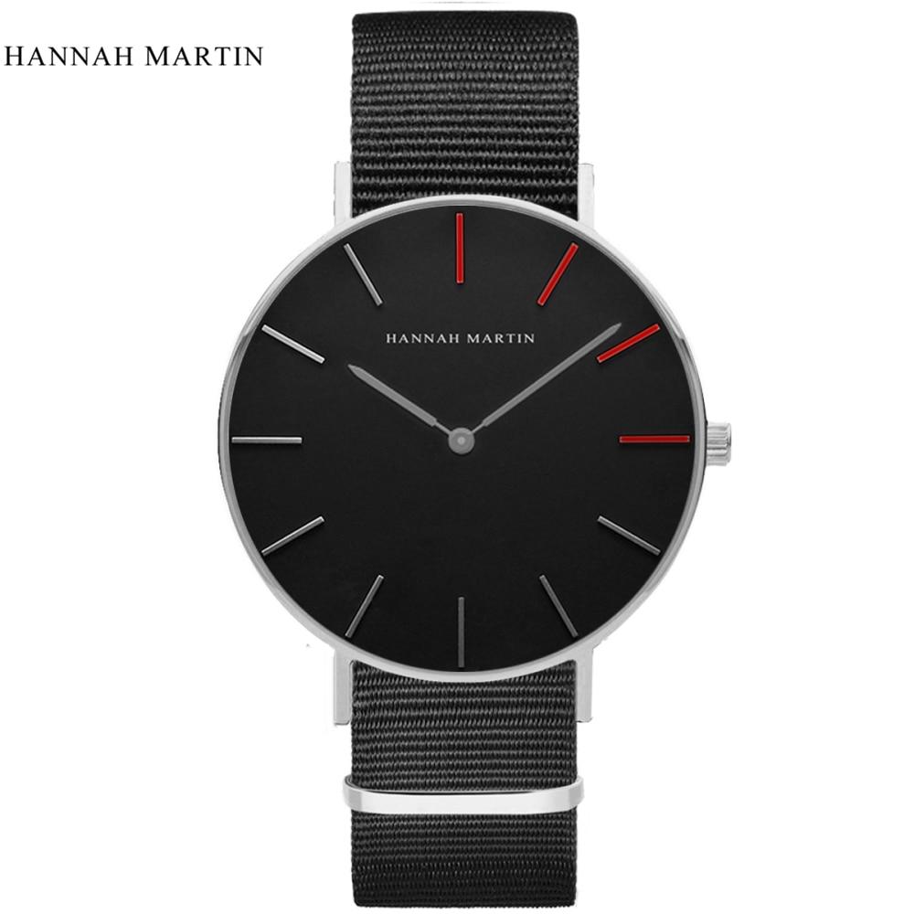 2017 New Designer HANNAH MARTIN Classical Male Men Women Ladi Top Brand Luxury Fashion Casual Quartz-watch Leather Wrist Watches 4