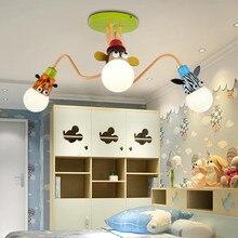 купить modern Creative cartoon Animals lamp Ceiling light for baby bedroom boy Kids Room girl room Kindergarten eye care nursery lamp по цене 7294.69 рублей