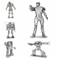 Iron Man Metal 3D Nano Jigsaw Puzzles For Adults New Red Gold The Avengers Ironman 3D