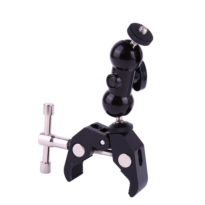SmallRig Cool Ballhead Arm Super Clamp Mount Multi-function Double Ball Adapter with Bottom Clamp for Ronin-M DSLR Camera