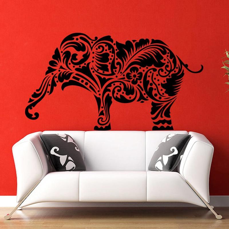 Buddha Quotes Namaste Wall Decals Yoga Mandala Wall Stickers For Living Rooms DIY Home Decor Yoga Lotus Art Mural Decoration