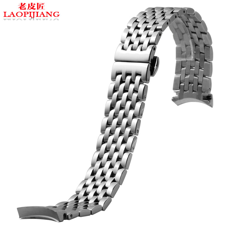 19mm 20mm High quality solid stainless steel strap fit hourse tissot T 1853 men's strap silver between gold bracelet watchband|stainless steel strap|steel strap|strap on - title=