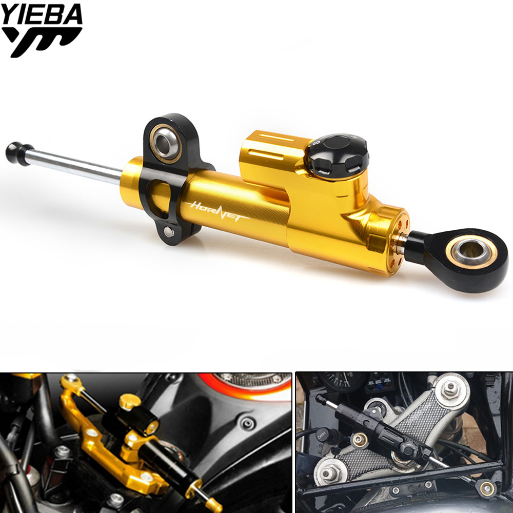 Universal Motorcycle CNC Steering Dampers Stabilizer Safety Control For HONDA hoRnet 250 CB900F Hornet CB919 CB599