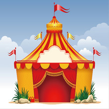10x10FT Light Blue Sky Circus Tent Escape Flags Red Drape Stage Kids Children Custom Photo Background  sc 1 st  AliExpress.com & Buy kids circus tent and get free shipping on AliExpress.com