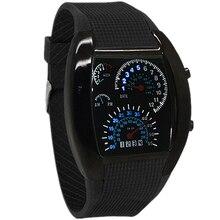 Бренд tada высокое качество горячей продаж максимальная скорость часы для мужчин и женщины Авиации СВЕТОДИОДНЫЕ часы Мода Синий светодиод Гоночный Автомобиль часы