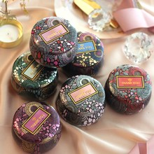 Gold-Plated European Tea Candy Jewelry Storage Box Candle Jar Christmas Small Iron Box Wedding Favor Tin Box House Decor Display(China)