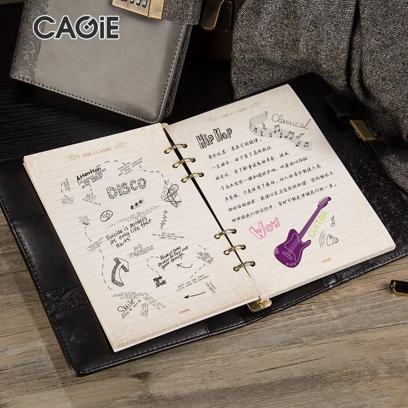 Cagie 2016 Vintage wachtwoordvergrendeling Spira Kladblok Zakelijk - Notitieblokken en schrijfblokken bedrukken - Foto 3