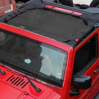 2018Car Sun Shade Mesh Sunshade Full Top Cover UV Protection For Jeep for Wrangler JK 4 door Easy Installation Covers