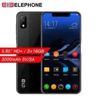 Elephone A4 Mobile Phone 5.85 19:9 Notch Screen Android 8.1 Dual Sim 4G Smartphone 3GB RAM 16GB ROM Face Fingerpringt ID Unlock