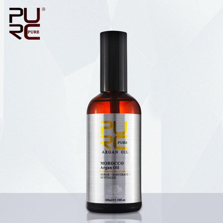 PURC المغربي زيت الأركان 100 مل لإصلاح الشعر الرطوبة الرطوبة بعد علاج الشعر بالكيراتين الشحن المجاني