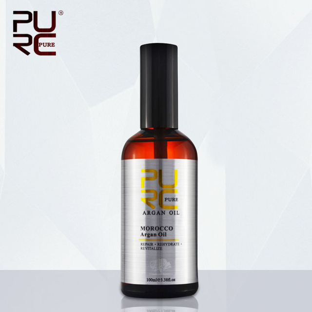PURE Moroccan  Argan Oil 100ml for Repairs hair damage Moisture for after keratin treatment hair treatment free shipping