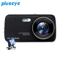 Pluseye Car Dvr Camera 1080p Dash Cam HD Car Video Recorder Dvr Black Box Car Mirror