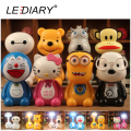 LEDIARY LED Rechargeable Cartoon Desk Lamp 220V Book/Reading Lamp Baymax Bear Backkom Monkey DDCAT Hello Kitty Minions Dog