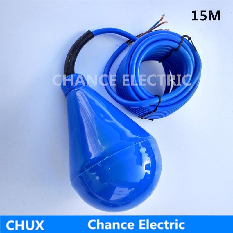 цена на 15m PVC float level switch Cable Float Switch Liquid Fluid Water Pump Level NO/NC Controller Sensor M15-5
