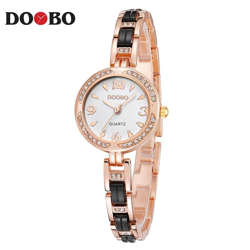 DOOBO luksusowa Moda damska zegarki zegarek kwarcowy bransoletka - Zegarki damskie - Zdjęcie 1