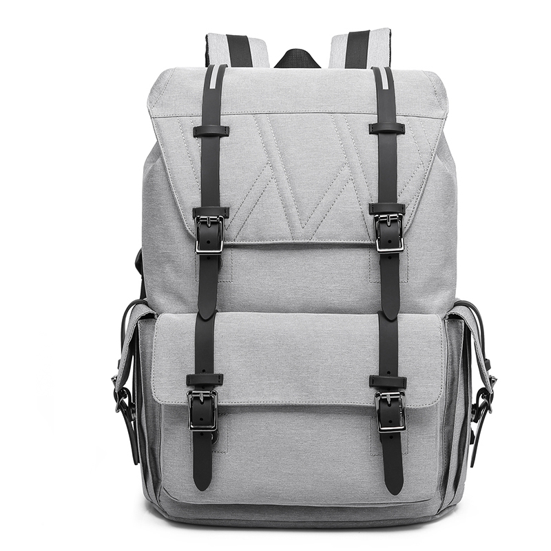KAKA New Korean Style Men Fashion Backpacks Hasp String Opening Unisex Women School Backpack for 15
