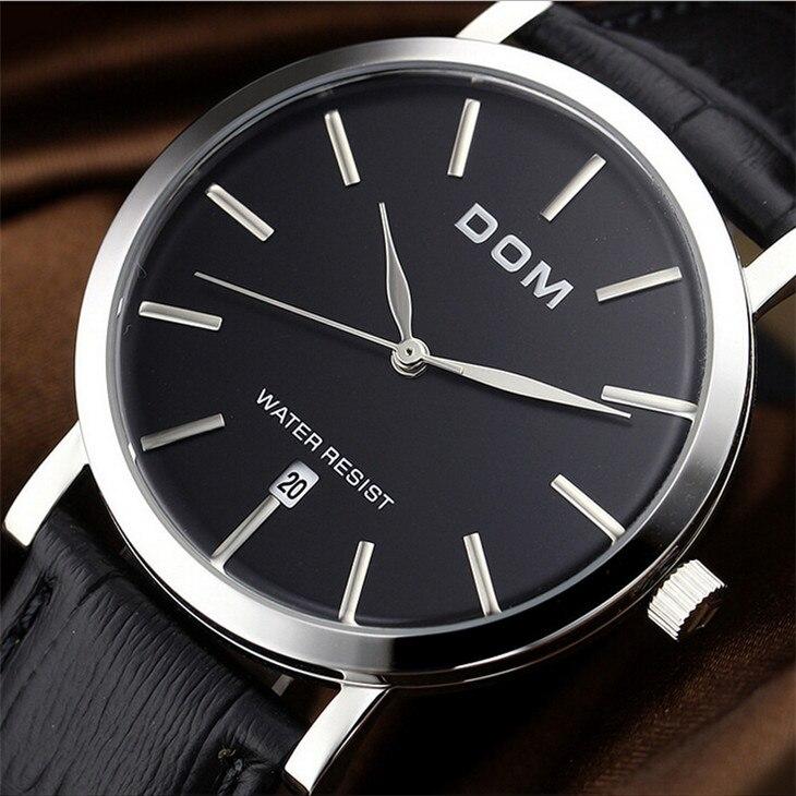 2016 Watches Men Luxury Top Brand DOM New Fashion Men s Quartz Watch Male Wristwatch relogio